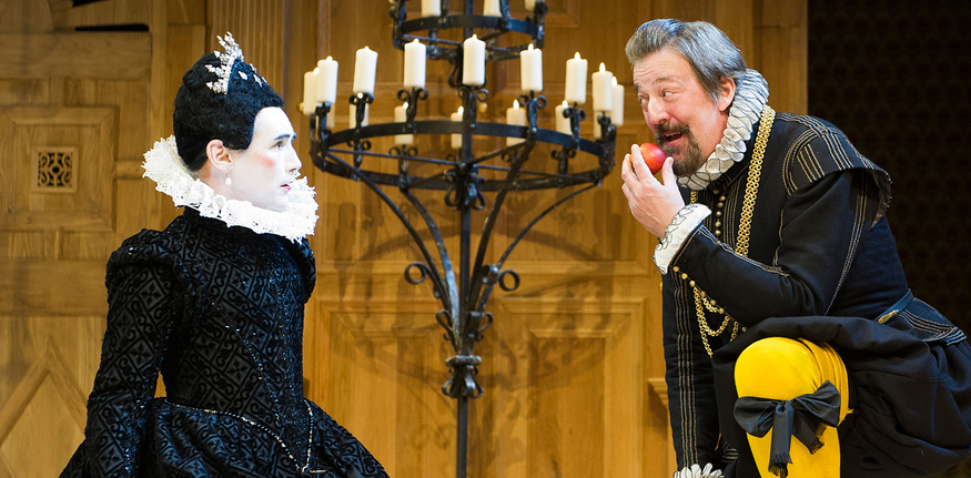 Photo credit: Mark Rylance and Stephen Fry in 2012's Twelfth Night, Globe Theatre